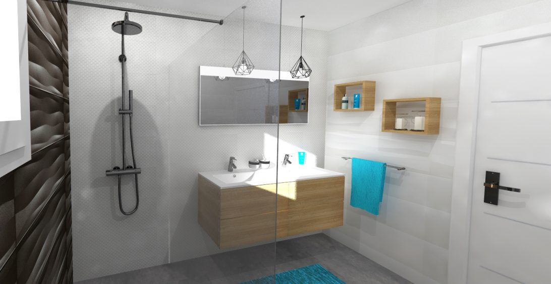 Vue 3D salle de bain Christele Calleja