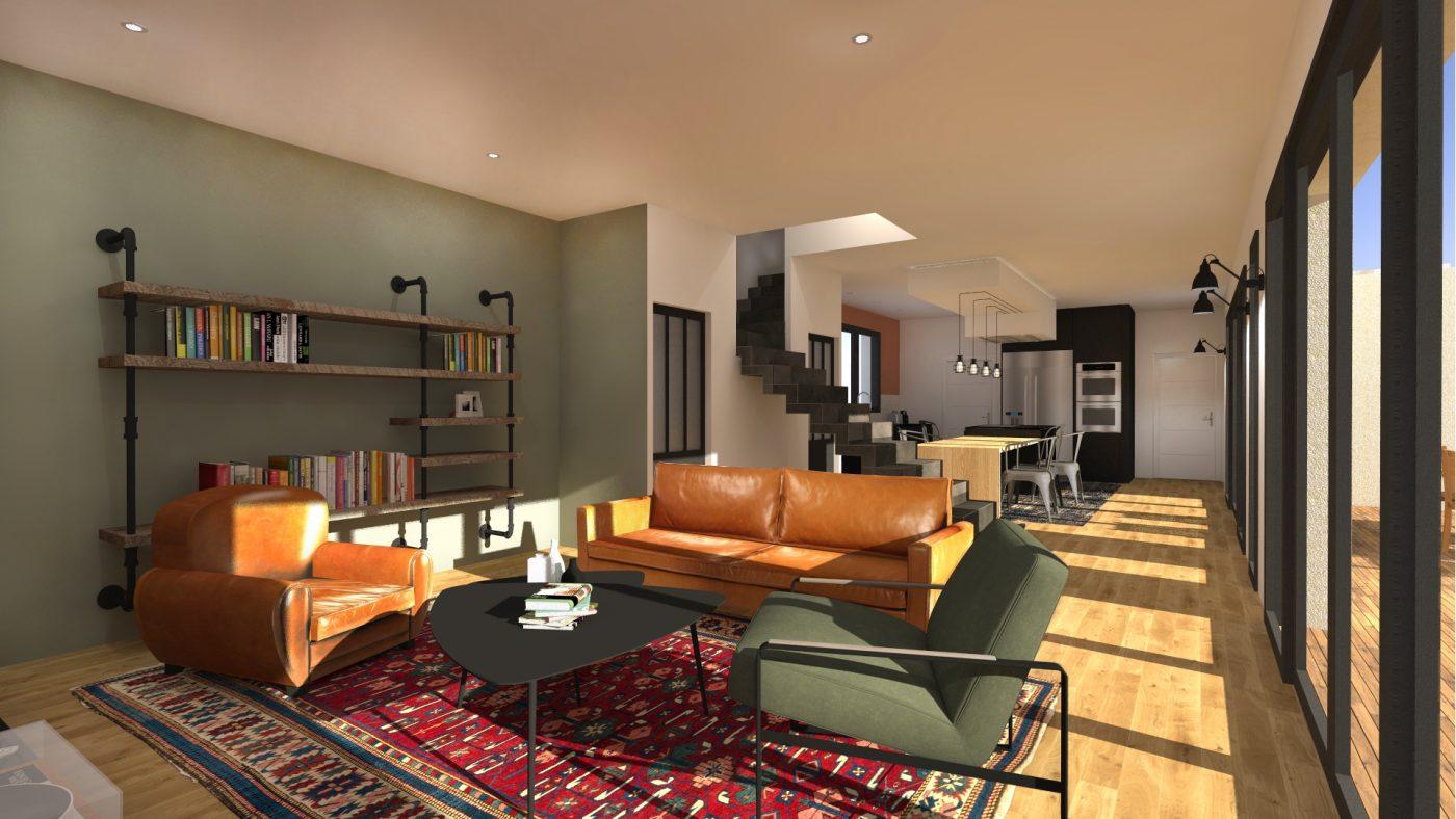 Christèle Calleja Aménagement intérieur d'une maison contemporaine